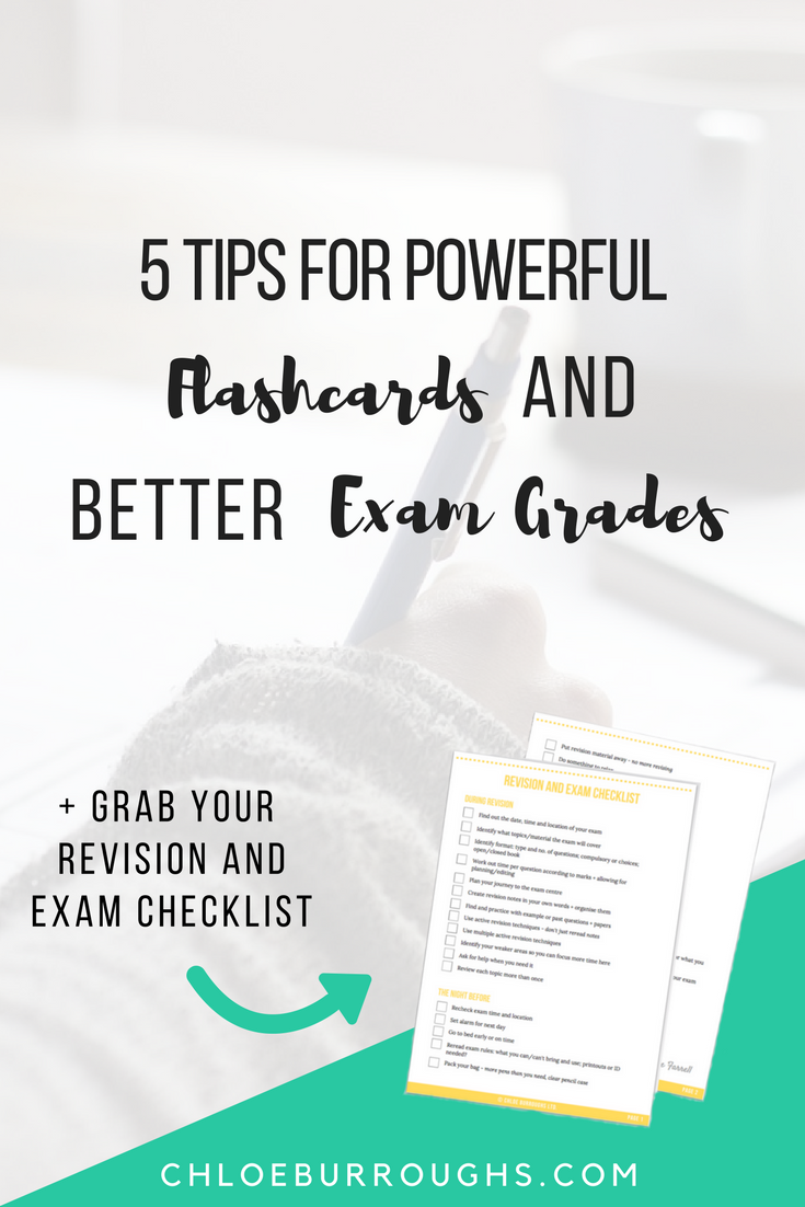5 Tips for Powerful Flashcards and Better Exam Revision