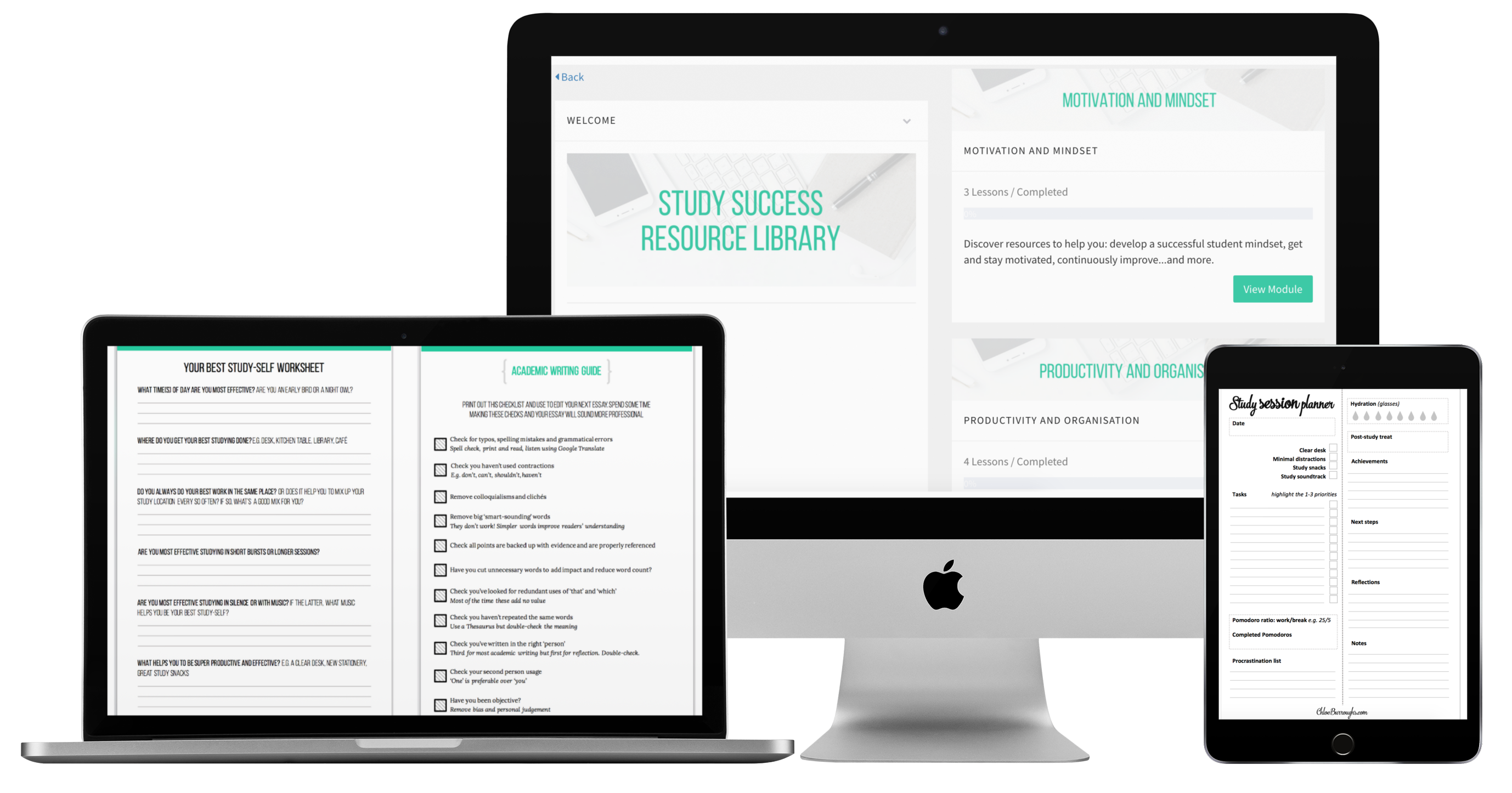 Mock up resource library study success