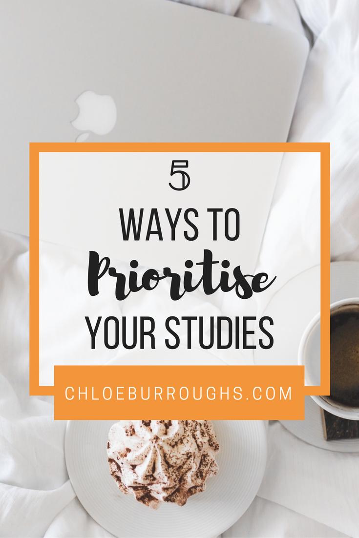 5 Ways to Prioritise Your Studies