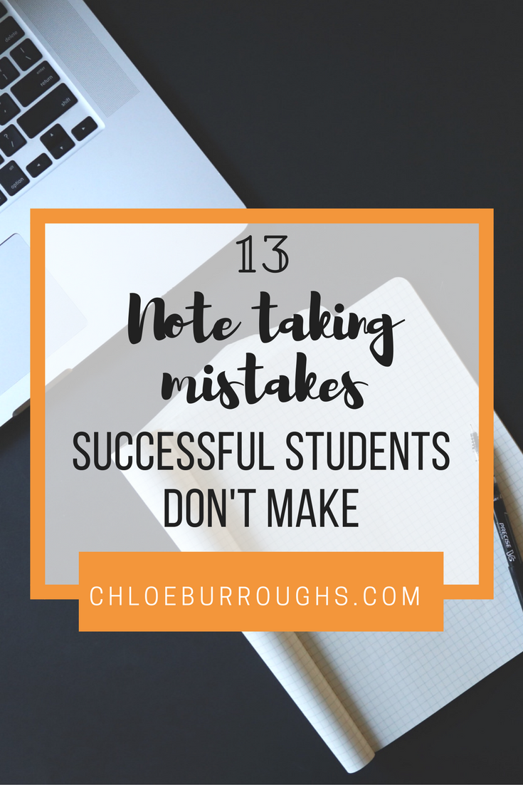 Note Taking Mistakes Successful Students Don't Make