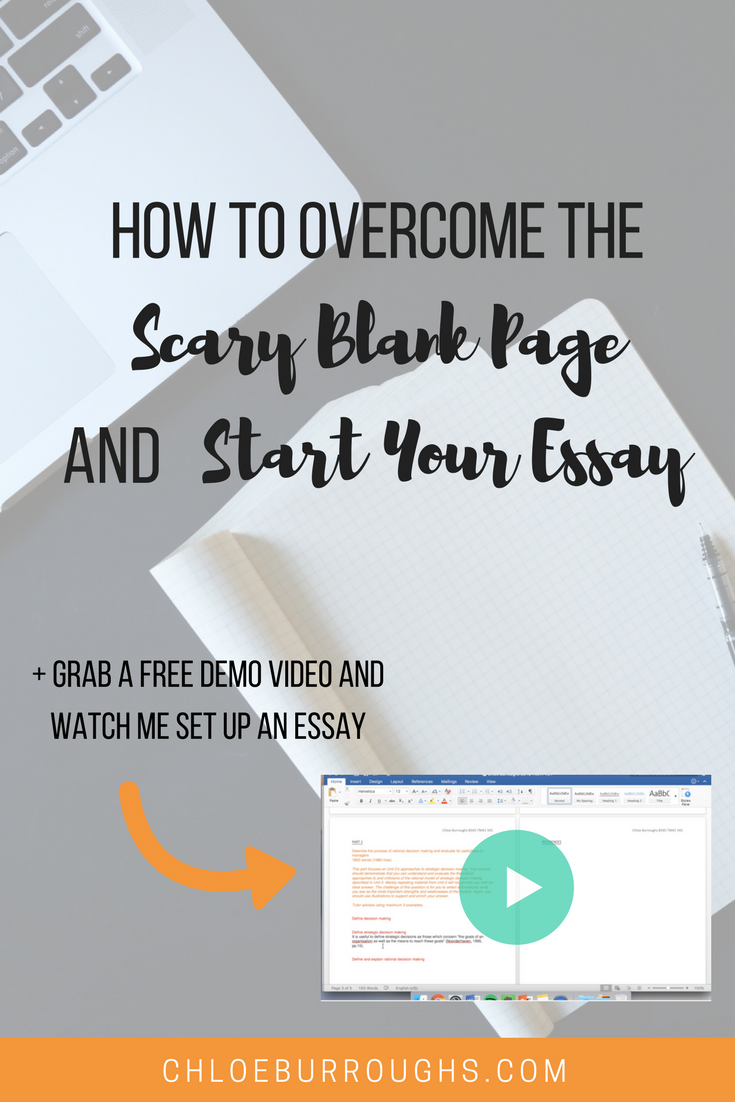 how to overcome the scary blank page and start your essay click here to get my iuml iquest iuml iquest iuml iquestcheatiuml iquest sheet and video to help you start iuml iquestyouriuml iquest essay the right way