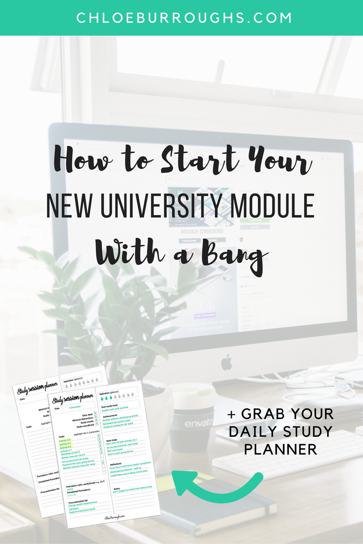 How to Start Your New University Module With a Bang4
