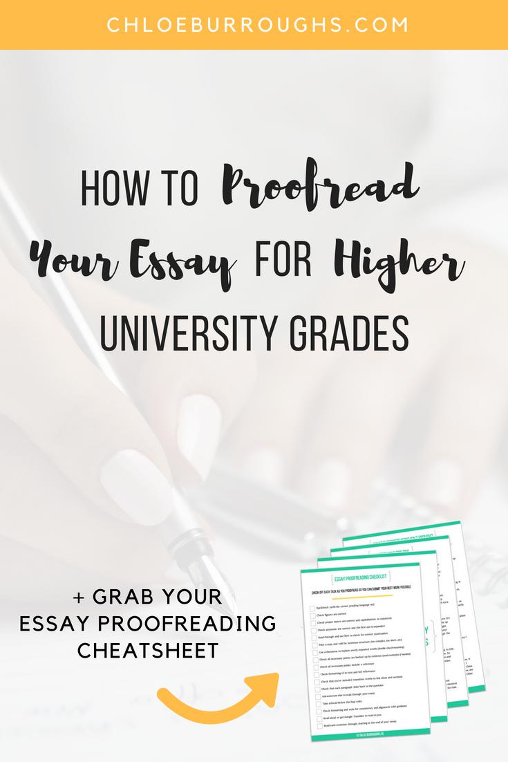 proofreading essay