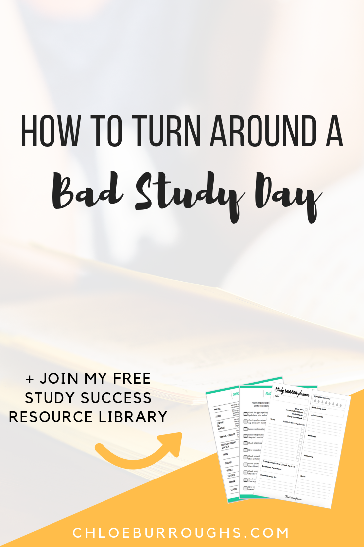 How to Turn Around a Bad Study Day 1
