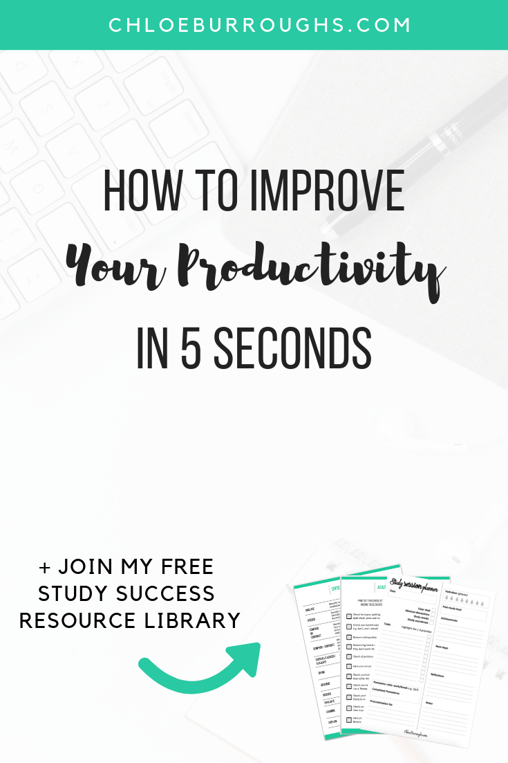 How to Improve Your Productivity in 5 Seconds 3