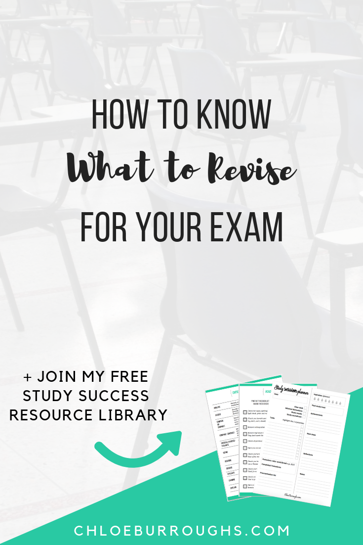 How to Know What to Revise for Your Exam 1