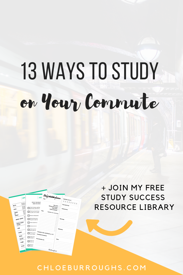 13 Ways to Study on Your Commute 2