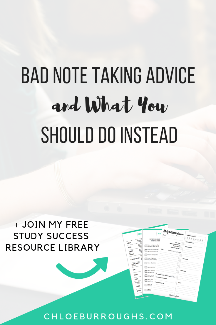 Bad Note Taking Advice and What You Should Do Instead 1